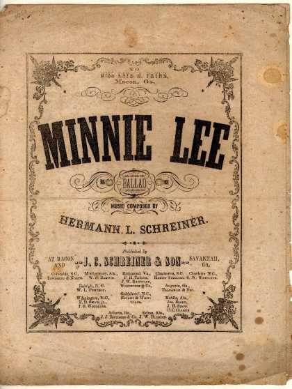 Sheet Music - Minnie Lee