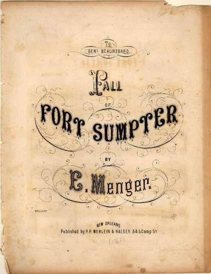 Sheet Music - Fall of Fort Sumter