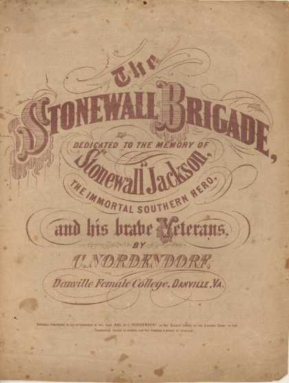 Sheet Music - Stonewall brigade