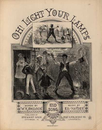 Sheet Music - Oh! light your lamps; End song