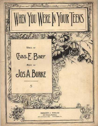 Sheet Music - When you were in your teens