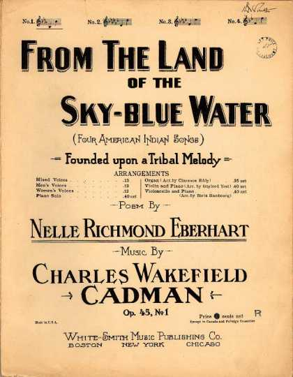 Sheet Music - From the land of the sky-blue water; Op. 45, no. 1; Four American Indian songs