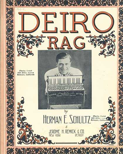 Sheet Music - Deiro rag