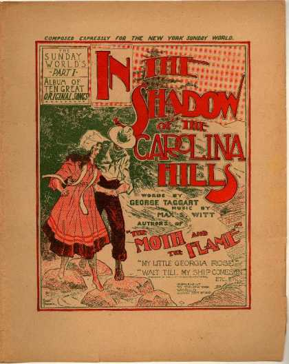 Sheet Music - In the shadow of the Carolina hills
