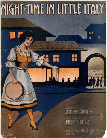 Sheet Music - Night-time in little Italy