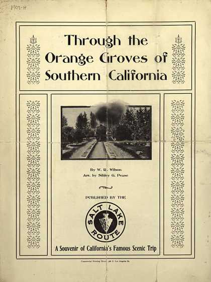 Sheet Music - Through the orange groves of Southern California