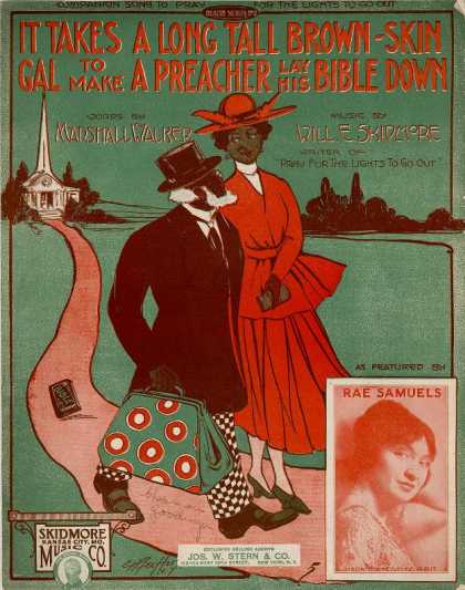Sheet Music - It takes a long tall brown-skin gal to make a preacher lay his Bible down; Compa