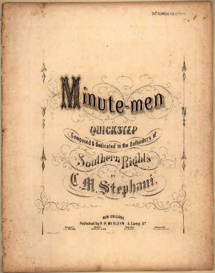 Sheet Music - Minute-men quickstep