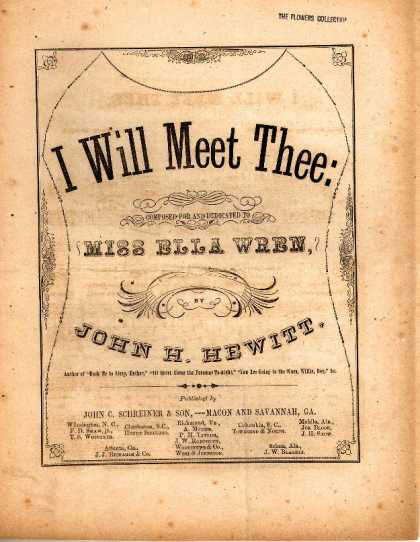 Sheet Music - I will meet thee