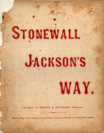 Sheet Music - Stonewall Jackson's way!