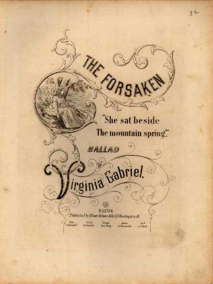 Sheet Music - The Forsaken; She sat beside the mountain spring