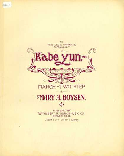 Sheet Music - Kabeyun = West wind