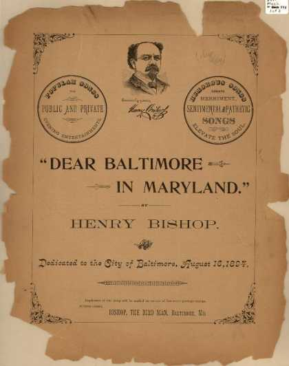 Sheet Music - Dear Baltimore in Maryland
