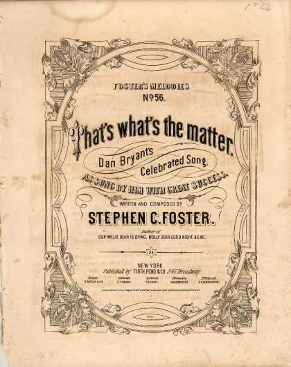 Sheet Music - That's what's the matter