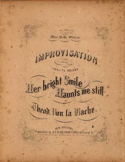 Sheet Music - Improvisation on the favorite melody Her bright smile haunts me still; Op. 503;