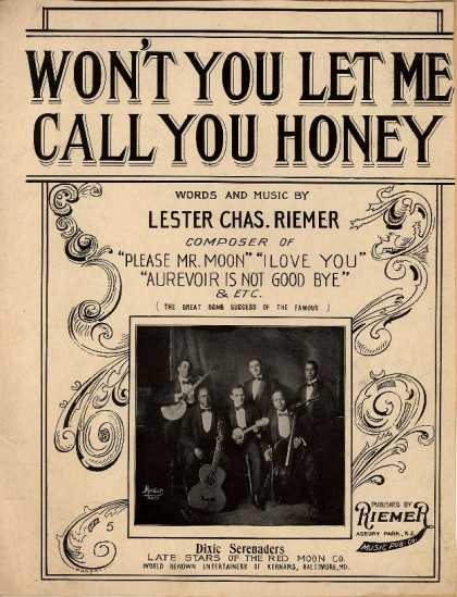Sheet Music - Won't you let me call you honey