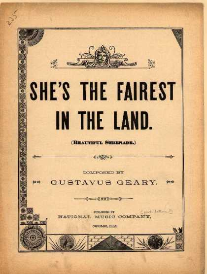 Sheet Music - She's the fairest in the land