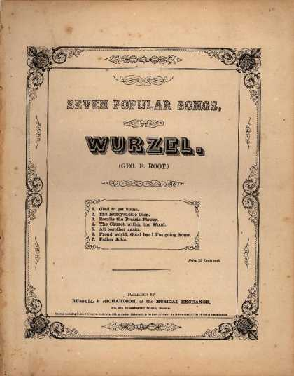Sheet Music - Rosalie the prairie flower