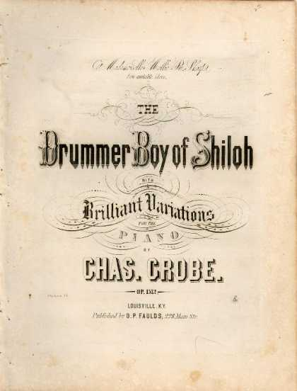 Sheet Music - The drummer boy of Shiloh with brilliant variations; Op.1512