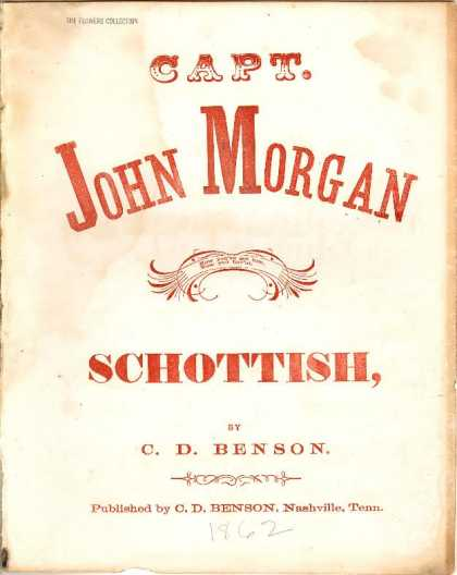 Sheet Music - Capt. John Morgan schottish; John Morgan schottisch