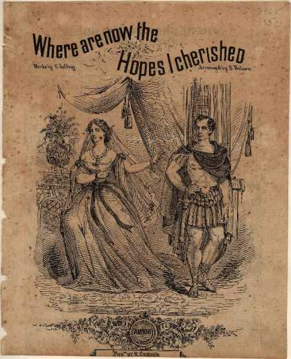Sheet Music - Where are now the hopes I cherished; Norma