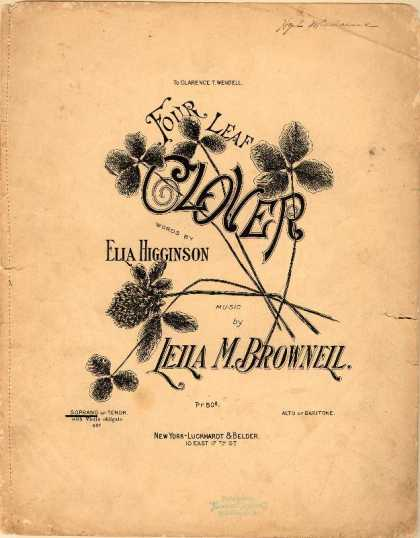 Sheet Music - Four leaf clover