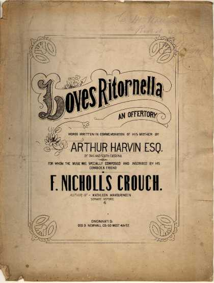 Sheet Music - Loves ritornella, an offertory