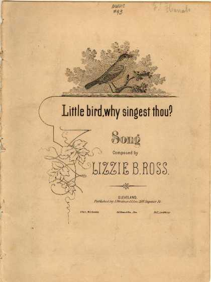 Sheet Music - Little bird, why singest thou?