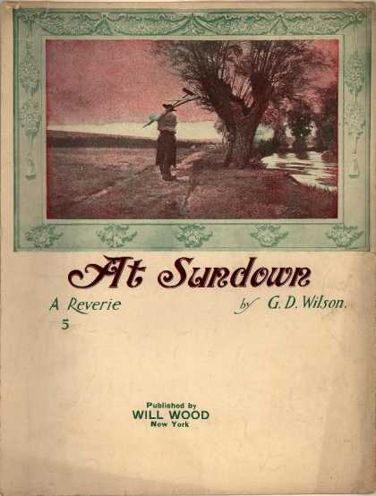 Sheet Music - At sundown
