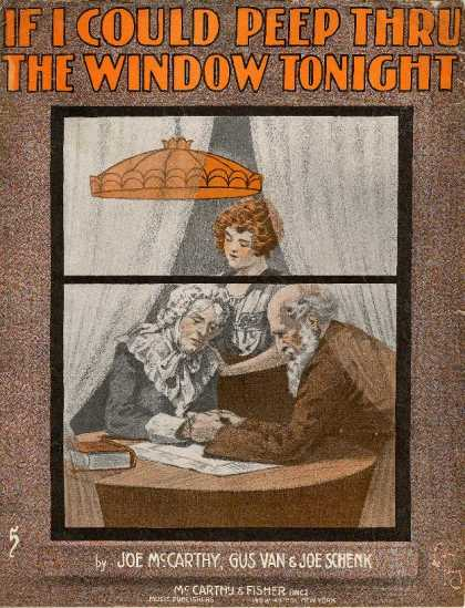 Sheet Music - If I could peep thru the window tonight