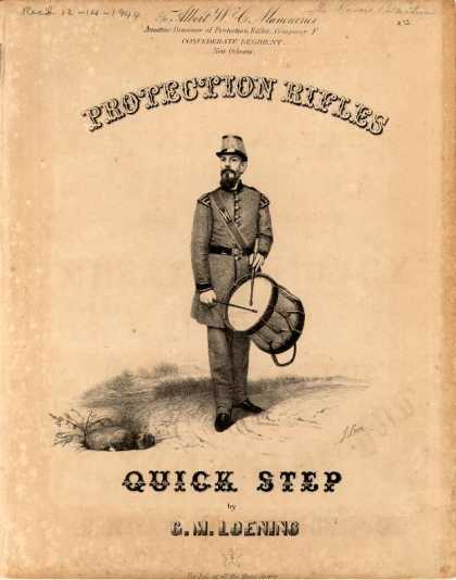 Sheet Music - Protection Rifles' quick step