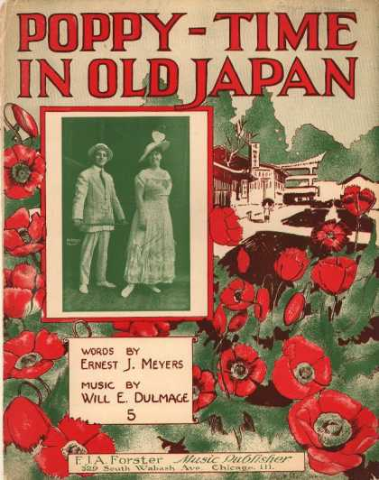 Sheet Music - Poppy-time in old Japan