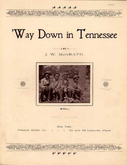 Sheet Music - 'Way down in Tennessee