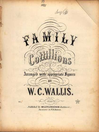 Sheet Music - Family cottillions first sett