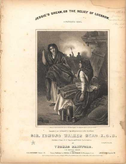 Sheet Music - Jessie's dream or the relief of Lucknow