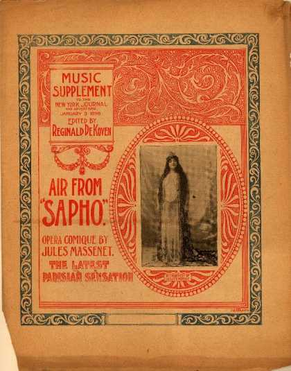 Sheet Music - Solitude; Air from Sapho