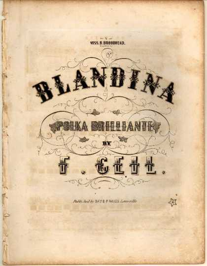 Sheet Music - Blandina; Polka brilliante