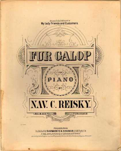 Sheet Music - Fur galop