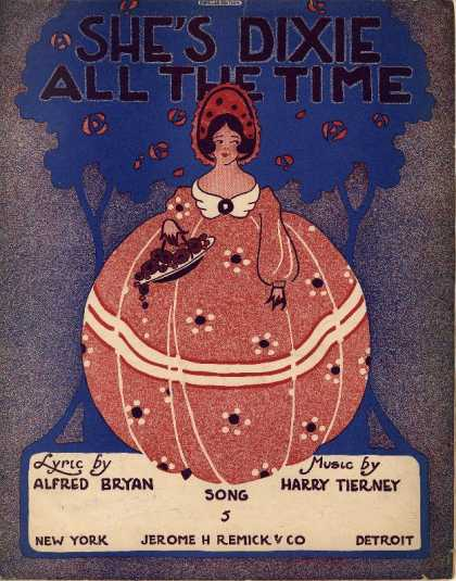 Sheet Music - She's Dixie all the time