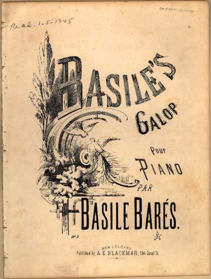 Sheet Music - Basile's galop; Op. 9