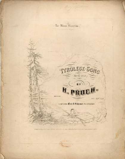 Sheet Music - Tyrolese song