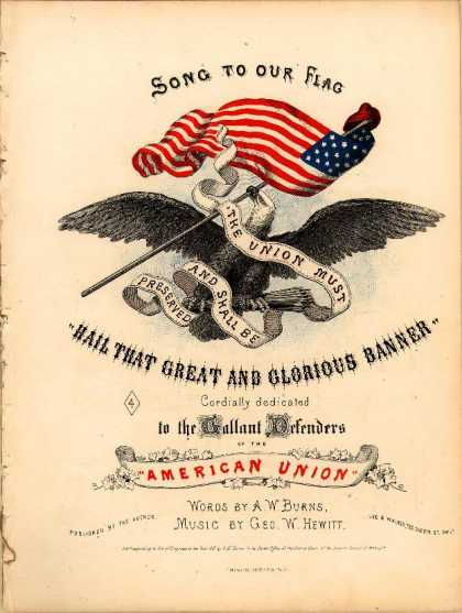 Sheet Music - Song to our flag; Hail that great and glorious banner