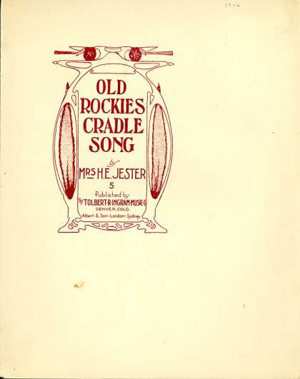 Sheet Music - Old Rockies cradle song