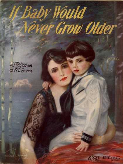 Sheet Music - If baby would never grow older a mother would never be sad