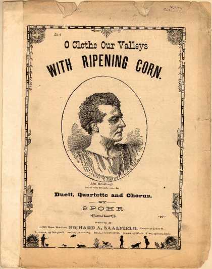 Sheet Music - O clothe our valleys with ripening corn; Lass Ahren reifen im Sonnenstrahl