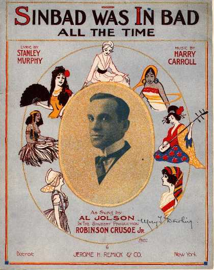 Sheet Music - Sinbad was in bad all the time; Robinson Crusoe, Jr.
