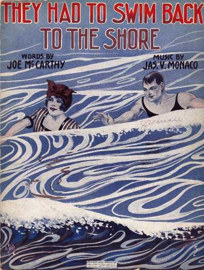 Sheet Music - They had to swim back to the shore