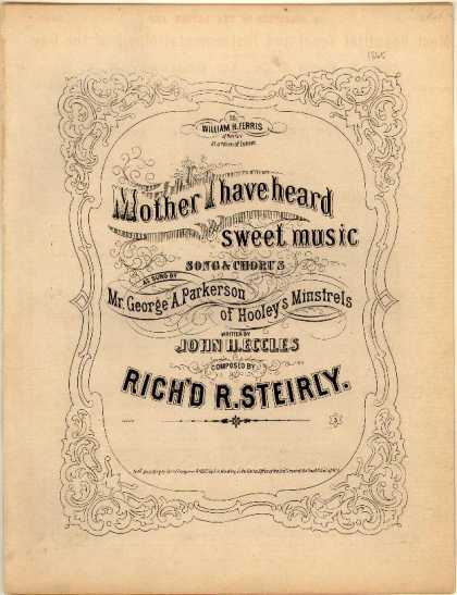 Sheet Music - Mother I have heard sweet musicc