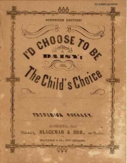 Sheet Music - I'd choose to be a daisy; The child's choice