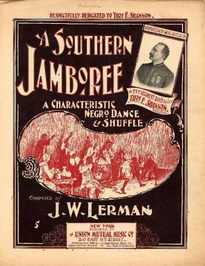 Sheet Music - A southern jamboree; Characteristic Negro dance and shuffle